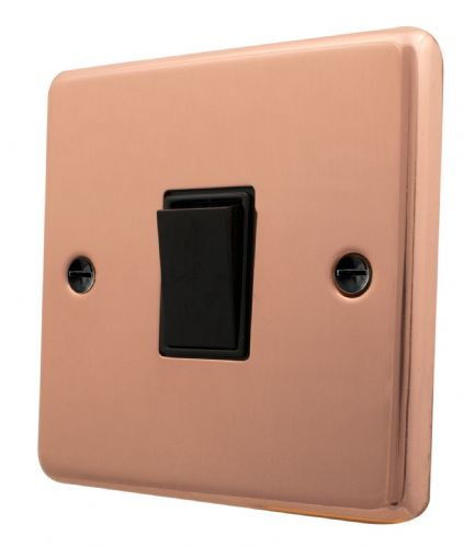 G&H CBC1B Standard Plate Bright Copper 1 Gang 1 or 2 Way Rocker Light Switch